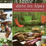 A table dans les Alpes