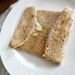 galette à la farine de sarrasin farcie au gorgonzola