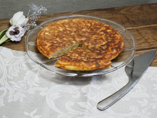 Gâteau salé à la poêle jambon fromage